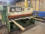 """Image for 1/4"""" x 8' LVD #6OH-25 MVB20/6.35, hydraulic shear, 53"""" LH squaring arm, 4' sheet support, 1985"""