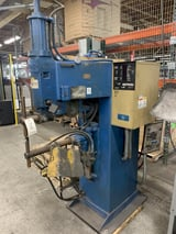 "Image for 50 KVA Acme #PTOS-24-50, spot welder, Entron EN1000 controls, 24"" throat, 460 V., 1973"