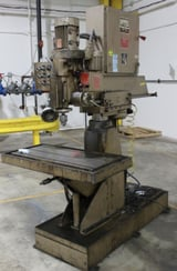 """Image for 2' -6"""" HTC Johanson #300, power elevation, air clamping, front work table, rear work base, 220 V., 1981, ag #16224"""