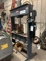 """Image for 50 Ton, Dake #909250, hydraulic H-frame press, electric, 16"""" stroke, double acting"""