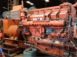 Image for 1200 KW Waukesha #L5792DSIU, 480 Volts, 3-phase, 3447 hrs, 1200 RPM, open skid
