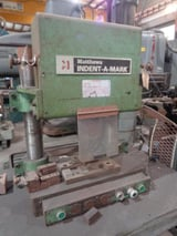 """Image for No. 2091 Matthews Indent-a-Mark, marking machine, 700-5000 lbf, 24"""" x 8"""" table, 1989"""