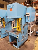 """Image for 20 Ton, Multipress #FH-20-20H, floor type, C-Frame hydraulic press, 12"""" stroke, 21"""" daylight, 18"""" x25.5"""" bed, dual palms, 1989 (2 available)"""