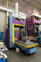 """Image for 112 Ton, Reis #TUS-130-100, hydraulic die spotting tryout press, 67"""" stroke, 63"""" x51"""" clamping platen, 1997"""