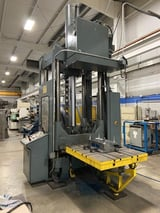 """Image for 112 Ton, Reis #TUS100-100, hydraulic 4-post spotting tryout press, 47.2"""" stroke, 1998"""