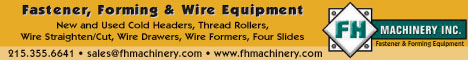 FH Machinery a full service organization for the fastener industry.