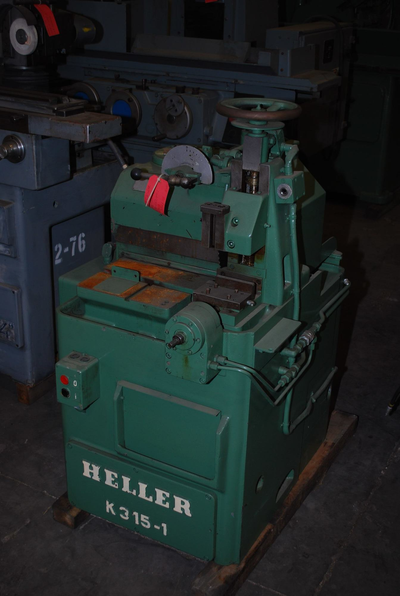 "3-3/4"" Heller #K315-1, circular cold saw, 12"" blade, 32.4-162 RPM, pwr blade feed, #4239"