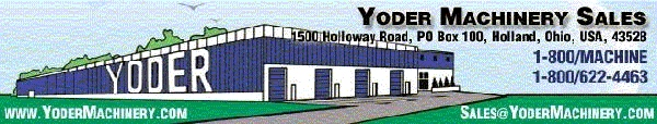 Logo for Yoder Machinery Sales