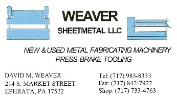 Weaver Metal Working Machinery LLC